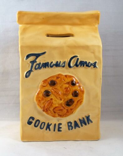 Famous Amos Ceramic Brown Bag Cookie Bank