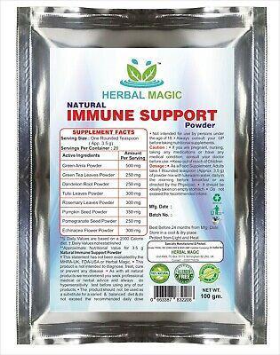 100% Pure & Natural 100g Immunity Support Powder   With Holy Basil & Vitamin C