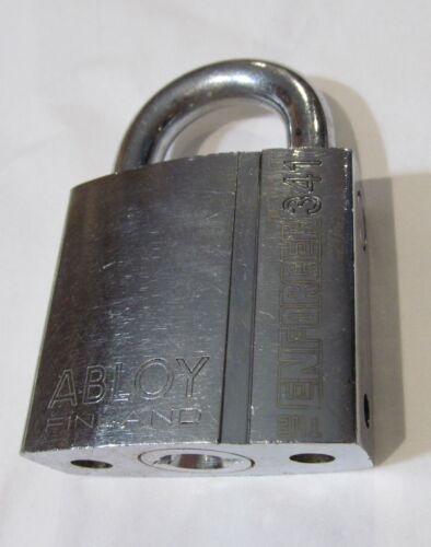 ABLOY ENFORCER 341 HIGH SECURITY PADLOCK/ LOCK (NO KEY) STORAGE/CARGO/TRAILER