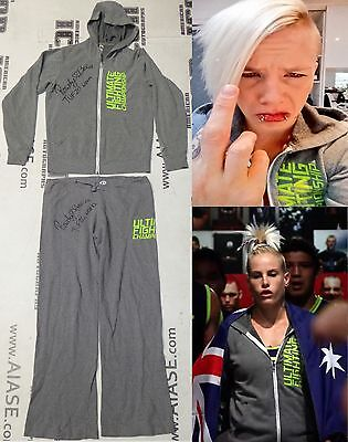 Bec Rawlings Signed Personally Worn Used Tuf 20 Ufc Fight Sweat Suit Bas Coa
