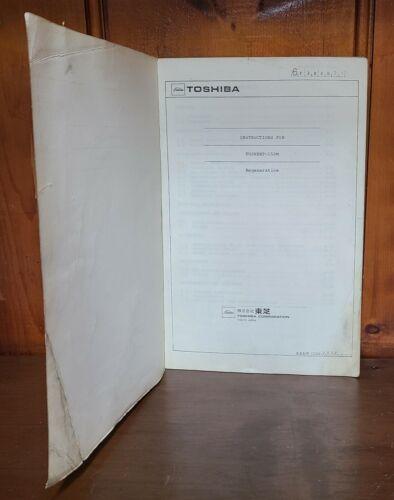 TOSHIBA INSTRUCTIONS FOR TOSVERT-150M REGENERATIVE