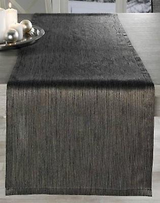 Tischläufer Eleganz, klassisches Design, 40 cm x 140 cm,  blau, grau + braun Blauer Tischläufer