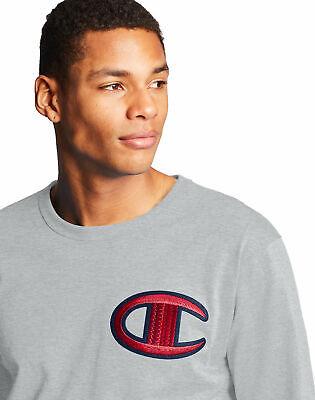 Long-Sleeve Tee Champion Life Men T-Shirt Heritage Floss Stitch C Logo Crew Neck Logos Sleeve Tee T-shirt