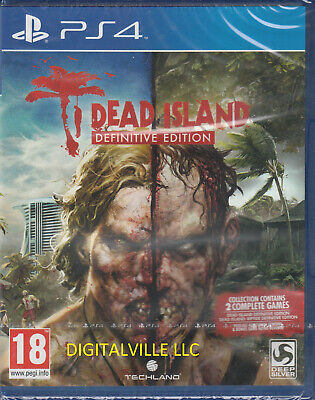 Dead Island Definitive PS4 2 games with Riptide Def Ed. Brand New Factory Sealed
