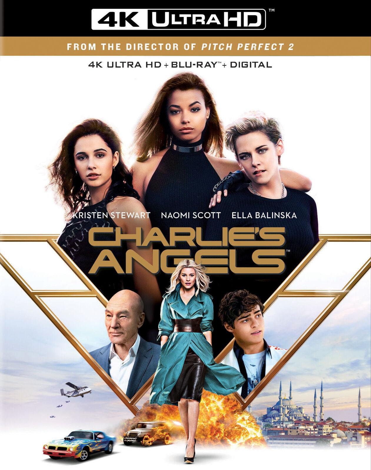 LIKE NEW Charlies Angels 4K NO Blu-Ray NO DIGITAL 2019 FREE SHIPPING - $9.99