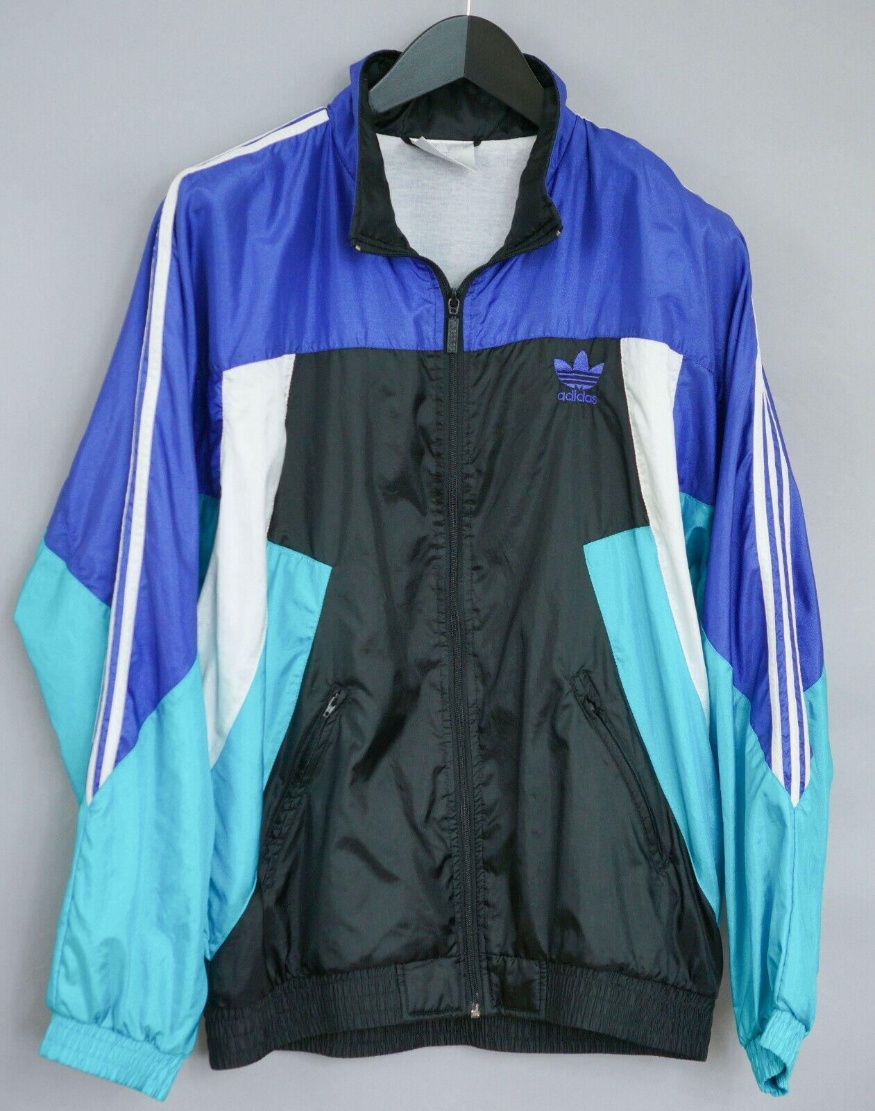 Dettagli su Uomo 90's Adidas Pista Giacca Originali 3 Righe Sportswear 5 174 L XLM272
