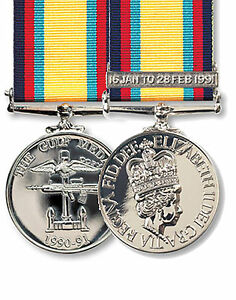 Official-Gulf-Medal-1990-91-FULL-SIZE-Medal-Clasp-Ribbon-Iraq-Gulf-war-1