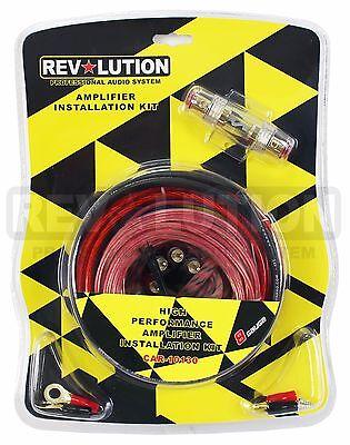 8 GAUGE PREMIUM POWER WIRE WIRING KIT  High Performance Amplifier 8GA Kit 10130 8 Gauge Power Kit