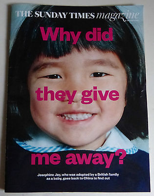 THE SUNDAY TIMES MAGAZINE - 29 JANUARY 2017 - WHY DID THEY GIVE ME AWAY?
