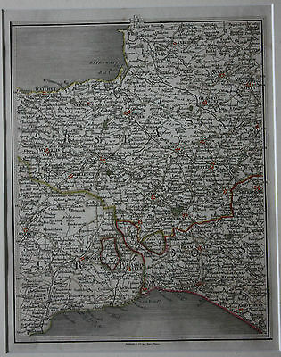 Original antique map SOMERSET, DEVON, DORSET, WELLS, TAUNTON, J. Cary, 1794