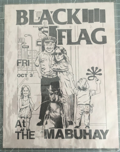 Original Black Flag Concert Flyer from 80