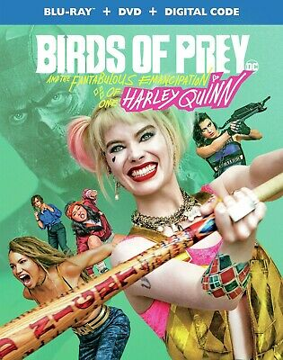 BIRDS OF PREY BLU-RAY + DVD + SLIPCOVER LIKE-NEW NO DIGITAL HARLEY QUINN