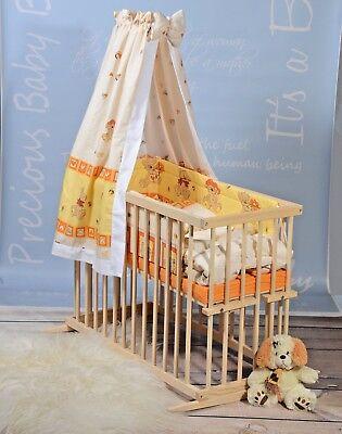Beistellbett Babybett Babywiege Stubenwagen Gitterbett KOMPLET Bettwäsche