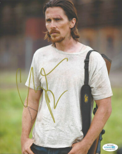 CHRISTIAN BALE HAND SIGNED 'OUT OF THE FURNACE' 8x10 PHOTO BATMAN ACTOR ACOA