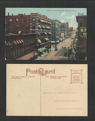 1910s 16th ST FROM STOUT ST DENVER COLORADO (Denver 16th St)