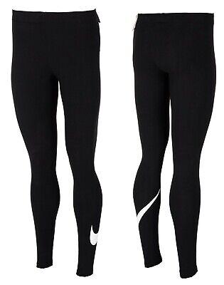 Nike Women Leggings Fitness Logo Black Size S M L XL 2XL Tight Fit Sport Jogging