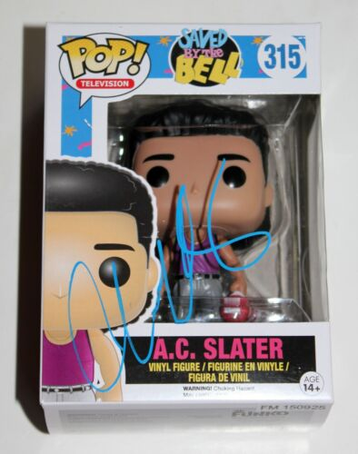 MARIO LOPEZ SIGNED SAVED BY THE BELL AC SLATER FUNKO POP VINYL FIGURE AUTO +COA