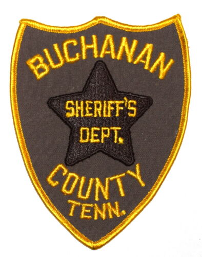 BUCHANAN COUNTY TENNESSEE TN Police Sheriff Patch VINTAGE OLD MESH LARGE ~