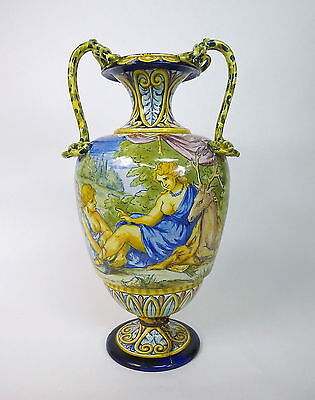 Große Vase Caltagirone ? Italien Majolika 19 Jh.
