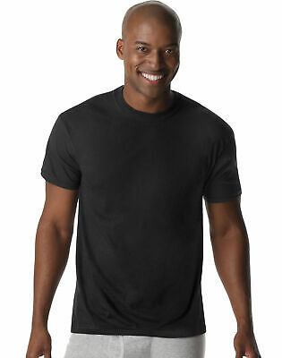 Hanes Men's X-Temp Comfort Cool Dyed Black Crewneck Undershi