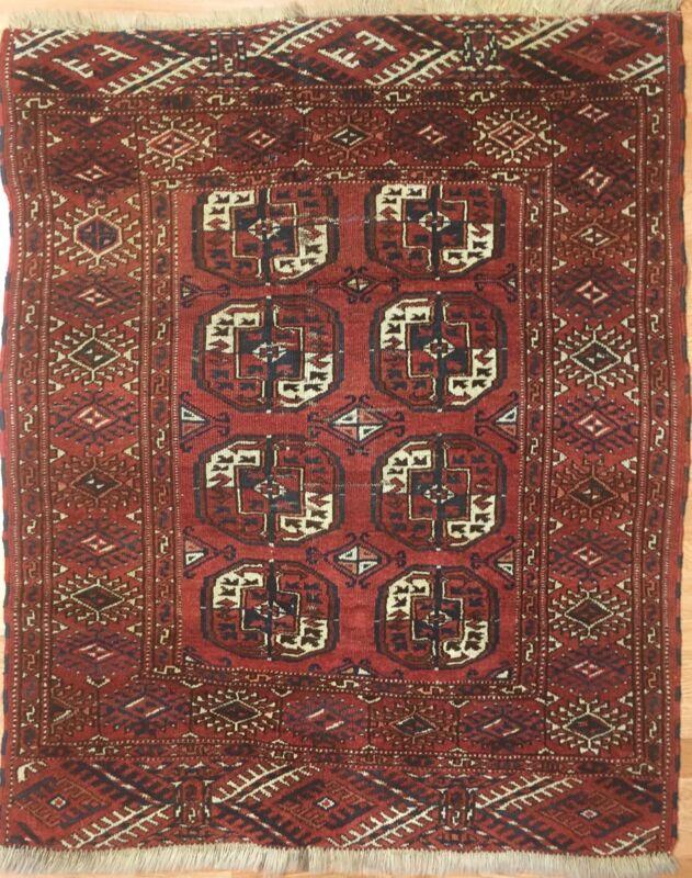 Tremendous Turkmen - 1910s Tekke Gul Bokhara Rug - Tribal Carpet - 3.8 X 4.6 Ft