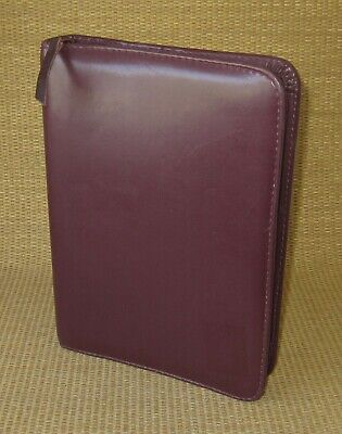 Classicdesk 1.25 Rings Burgundy Sim. Leather Day-timer Zip Plannerbinder