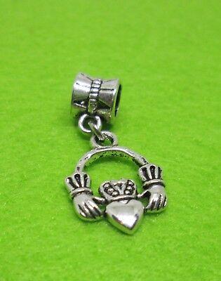 1pc Irish CLADDAGH - Love, Loyalty, Friendship Charm fits European DIY - Friendship Charm Bracelets