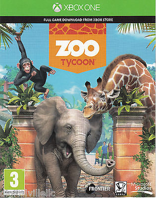 Zoo Tycoon Microsoft Xbox One Download Card Brand New Sealed Full Game
