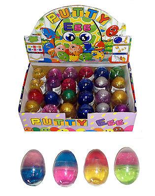 Box of 24 Glitter Putty Eggs - Brand New Pocket Money Toys