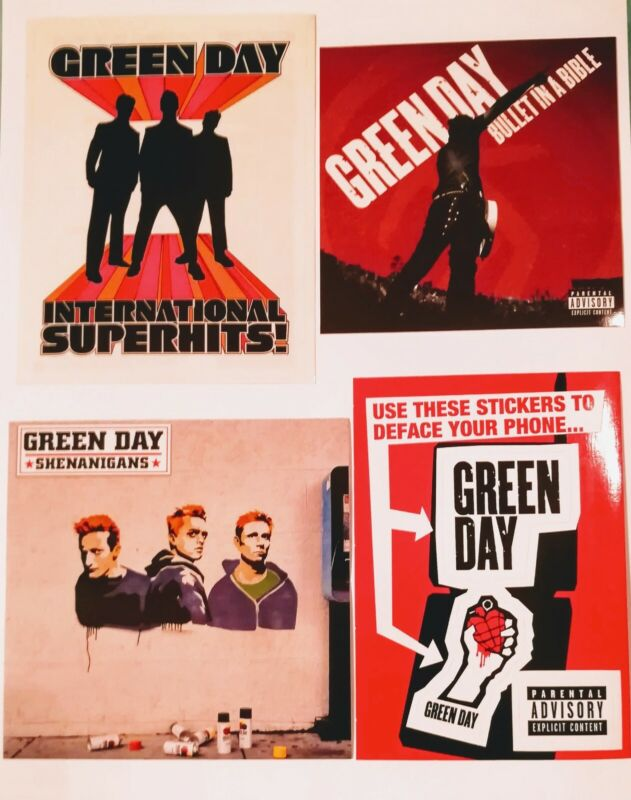 Green Day Promo Sticker Lot American Shenanigans International Rock Decal