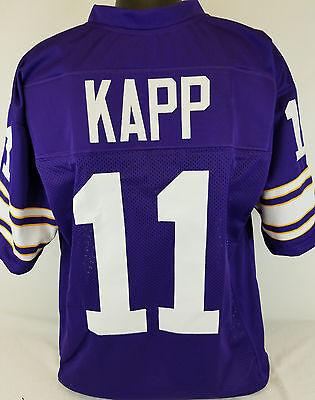 - Joe Kapp Unsigned Custom Sewn Purple Football Jersey Size - L, XL, 2XL