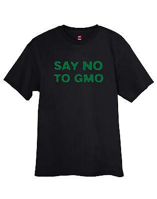 Say No To Gmo T Shirt Mens Anti Monsanto Genetically Modified Food Tee Free S H
