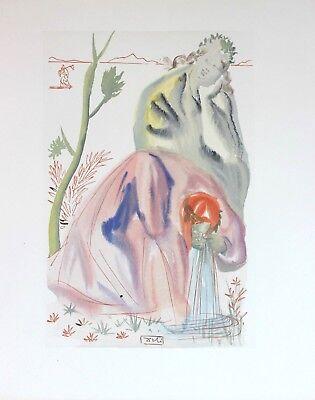 Salvador Dali Original Woodblock Engraving Signed Purgatory 21 Divine Comedy '60 for sale  Victoria