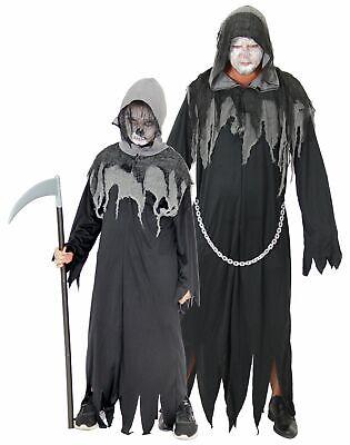 Sensenmann Horror Kostüm für Kinder und Herren Halloween - Herr Tod Halloween Kostüm