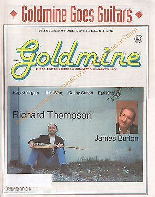 GOLDMINE Record Collectors News Magazine October 1991 Guitar Special VG FREE S&H