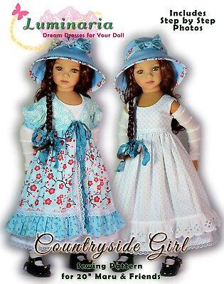 "Digital Pattern Dress for 20"" Dianna Effner Maru & Friends Little Darling Sister"