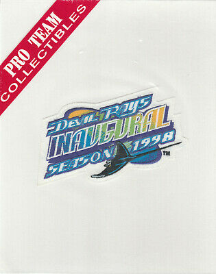 1998 DEVIL RAYS 1ST YEAR MLB BASEBALL OFFICIAL JERSEY SLEEVE PATCH PRO TEAM