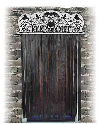 Halloween Decoration Door Topper Keep Out Scary Decor Horror Spooky](Halloween Door Decorations Scary)