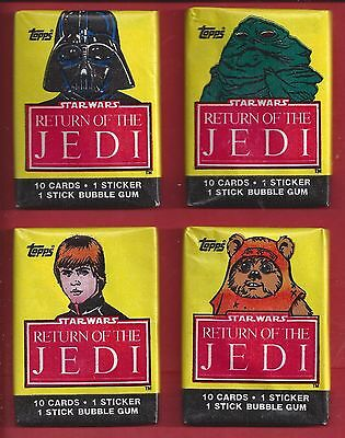 Single Wax Pack Topps 1983 Star Wars Return Of The Jedi series 1