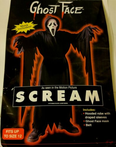 Fun World Youth Child Classic Ghost Face Scream Costume Fits Up To Size 12