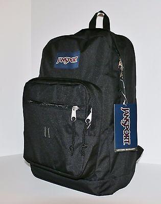 New JanSport City Scout Backpack Rucksack Black Bag School Hiking Free Shipping