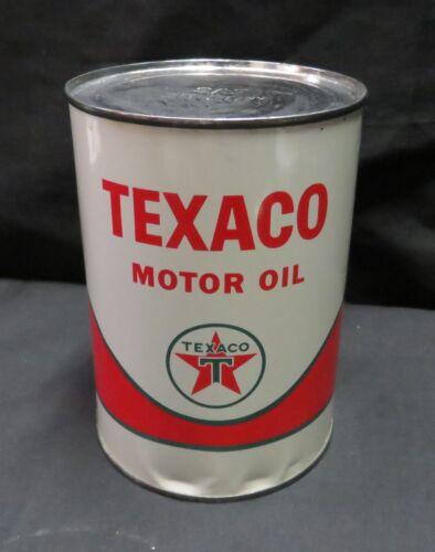 Vintage Texaco Motor Oil 1qt Unopened, Dated 1962 On Side