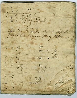 Handschrift 1818-1838 Verzeichnis Käufe Waisenhaus Frankenroda Eisenach Gotha