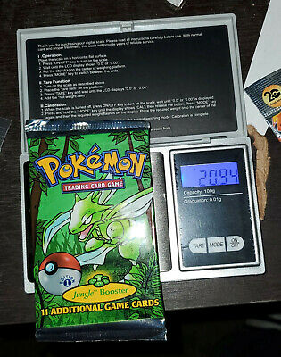 Pokemon 1st Edition Jungle Booster Pack Scyther Art Factory Sealed 20.94g Heavy