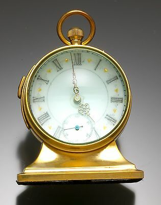 Very Unusual Quarter-Hour repeater Ball Table Clock With Fancy Dial Pocket Watch