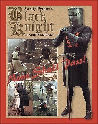 Monty Python Holy Grail Black Knight Metal Sign New Repro Comedy Movie Film USA - $9.99