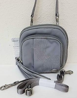 Sale  Haiku Pouch Bag Crossbody Shoulder Bag Purse Misty Gray Embroidered Nwt