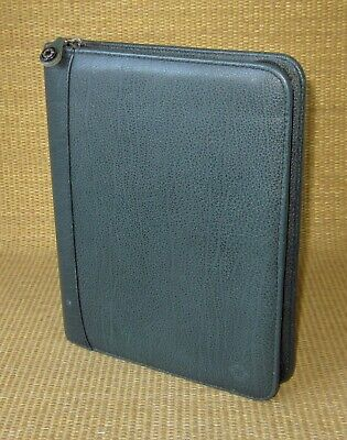 Classic 1.125 Rings Green Leather Franklin Covey Zip Plannerbinder Usa