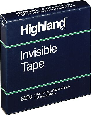 Highland Invisible Tape 6200 Refill 12 X 2592 3 Core 1 Pack Stl504720