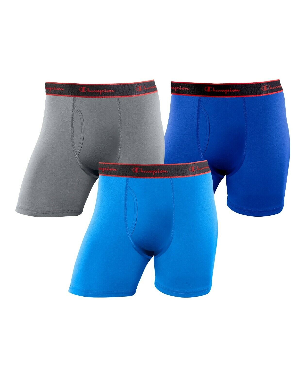 Champion 3 Pack Active Performance Moisture Wicking Boxer Briefs 3 pair Clothing, Shoes & Accessories